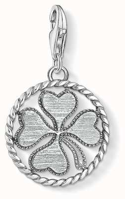 Thomas Sabo | Cloverleaf Disc Charm | Blackened Sterling Silver | 1759-637-21