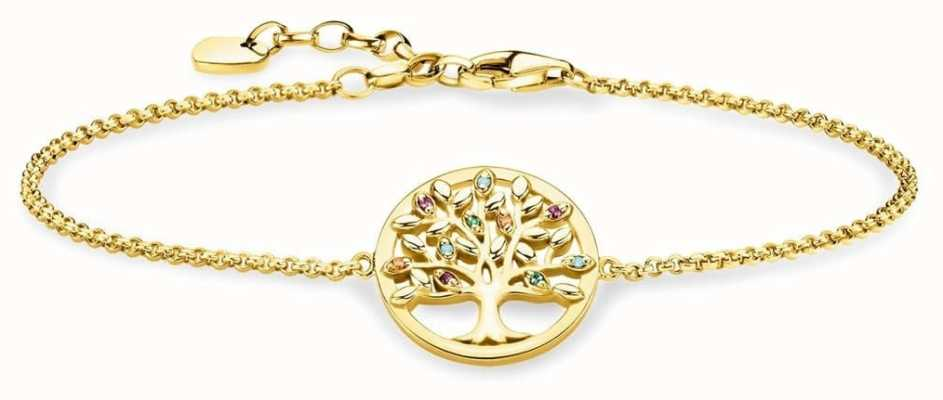 Thomas Sabo | Tree Of Life Gold Plated Sterling Silver Bracelet | A1868-488-7-L19V