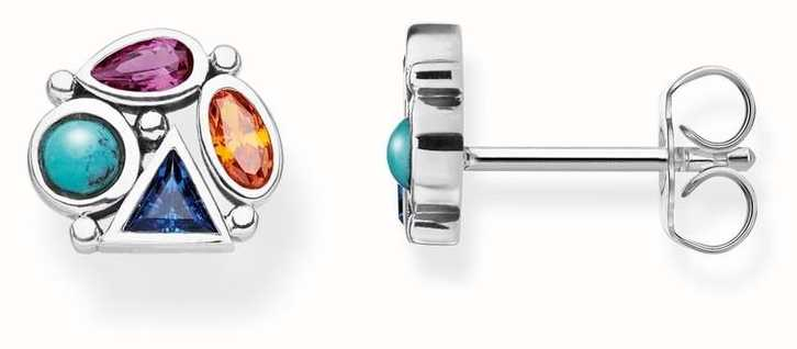 Thomas Sabo | Sterling Silver Multi-Coloured Stone Earrings | H2034-320-7