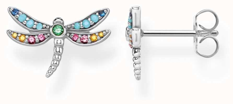 Thomas Sabo | Sterling Silver Dragonfly Earrings | Multi-colour Stones | H2051-314-7