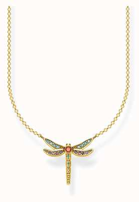 Thomas Sabo | Sterling Silver Gold Plated Dragonfly Necklace | KE1837-974-7-L45V