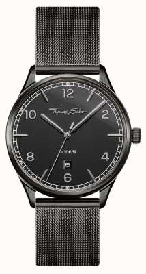 Thomas Sabo | Stainless Steel Black Mesh Bracelet | Black Dial | WA0342-202-203-40