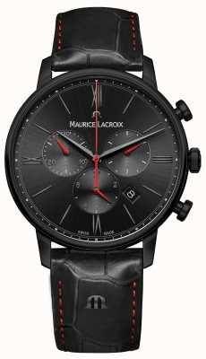 Maurice Lacroix Eliros Black PVD Plated Black Leather Strap EL1098-PVB01-310-1