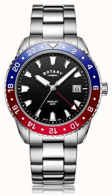 Rotary | Gents Stainless Steel Bracelet | Black Dial | GB05108/30