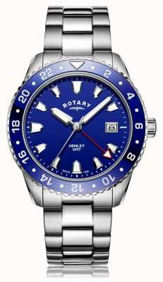Rotary | Gents Stainless Steel Bracelet | Blue Dial | GB05108/05