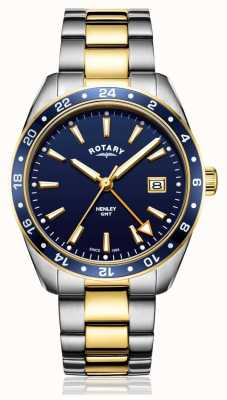 Rotary | Mens | Stainless Steel Two-Tone Strap | Blue Dial | GB05296/05