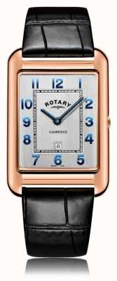 Rotary | Gents Black Leather Strap | Rose Gold Case | GS05284/70