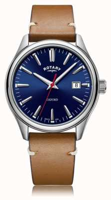 Rotary | Gents Tan Leather Strap | Stainless Steel Case | GS05092/53