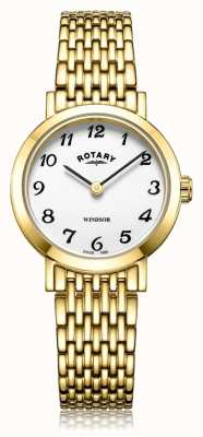Rotary | Ladies Gold Plated Bracelet | LB05303/18
