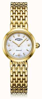 Rotary | Ladies Gold Bracelet | Mother of Pearl Dial LB00900/41/D