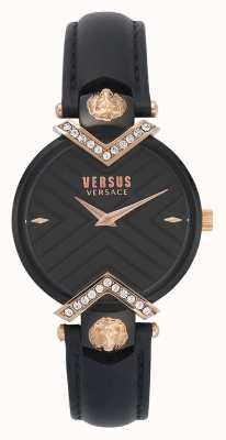 Versus Versace | Ladies Black Leather Strap | VSPLH1419