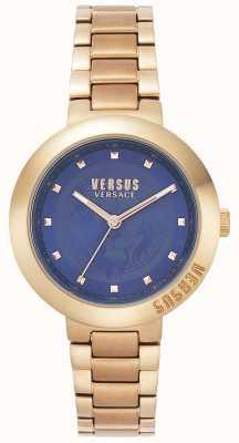 Versus Versace Ladies Rose Gold Bracelet | Blue Dial | VSPLJ0819