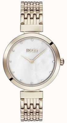 3b6e31b5e9f5 Hugo Boss Mens Governor Gold Bracelet Watch 1513521 - First Class ...