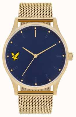 Lyle & Scott Mens Hope SE Gold PVD Plated Steel Mesh Bracelet Blue Dial LS-6013-44