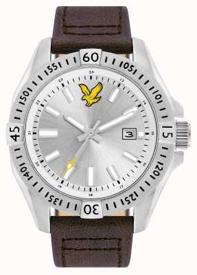 Lyle & Scott Mens Tactical Brown Leather Strap Silver Dial LS-6017-02