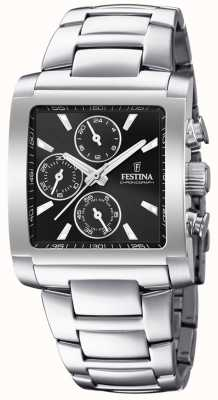 Festina | Mens Stainless Steel Chronograph | Black Dial | F20423/3