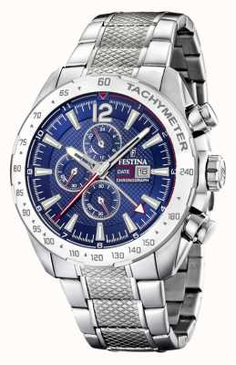 Festina | Mens Chronograph & Dual Time | Blue Dial | Steel Bracelet F20439/2