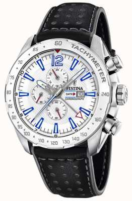 Festina | Mens Chronograph & Dual Time | Silver Dial | Leather Strap F20440/1