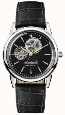 Ingersoll | Mens The New Haven | Black Leather Strap | Black Dial | I07302