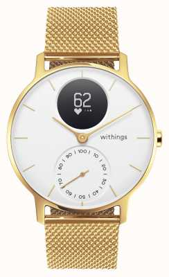 Withings Steel HR 36mm Limited Edition Gold Milanese (+Rubber Strap) HWA03B-36WHT-GOLD-MESH GOLD-ALL-INT
