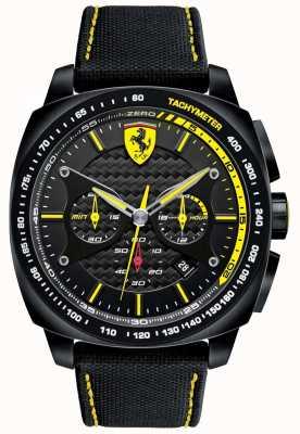 Scuderia Ferrari   Mens Aero Evo   Black Material Strap   Black Dial   0830615