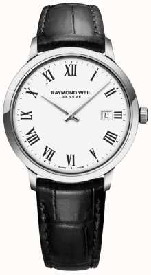 Raymond Weil | Mens Toccata | Black Leather Strap | White Dial | 5485-STC-00300