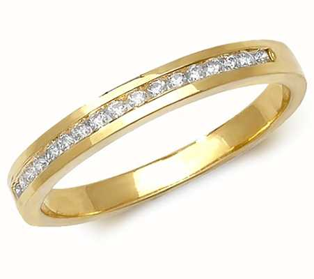 Treasure House 9ct Yellow Gold Diamond Channel Set Half Eternity RD566/N