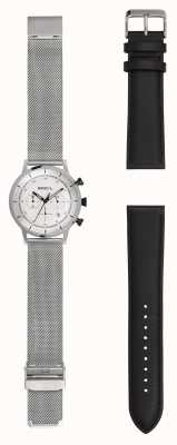 Breil | Gents Stainless Steel Mesh Watch | Extra Leather Strap | TW1806