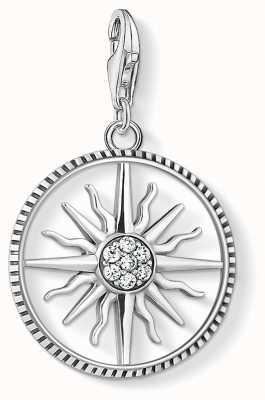 Thomas Sabo Charm Pendant 925 Blackened Sterling Silver/Cz Circle Sun 1764-643-14