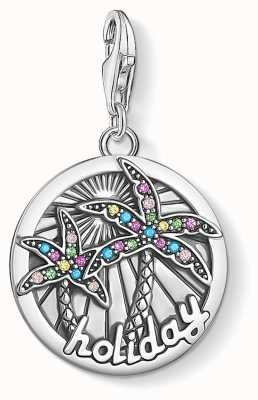 Thomas Sabo Charm Pendant Holiday 925 Blackened Silver Multicoloured Cz 1768-342-7