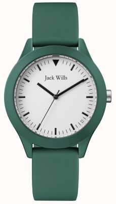 Jack Wills | Gents Green Rubber Strap | White Dial | JW009GRGR