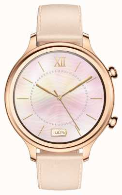TicWatch C2 | Rose Gold Smartwatch | Leather Strap 131584-WG12056-RG