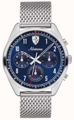 Scuderia Ferrari | Mens Abetone | Blue Dial | Silver Mesh Bracelet | 0830572