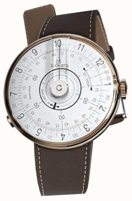 Klokers KLOK 08 White Watch Head Chocolate Brown Single Strap KLOK-08-D1+KLINK-01-MC4