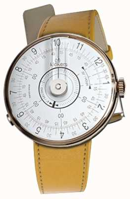Klokers KLOK 08 White Watch Head Newport Yellow Single Strap KLOK-08-D1+KLINK-01-MC7.1