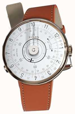 Klokers KLOK 08 White Watch Head Orange Alcantara Single Strap KLOK-08-D1+KLINK-01-MC5