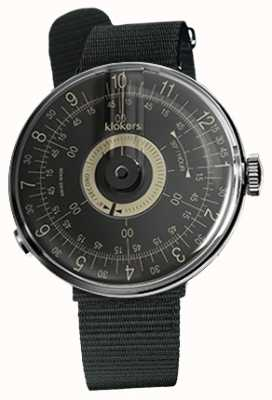 Klokers KLOK 08 Black Dial Black Textile Single Strap KLOK-08-D3+KLINK-03-MC3