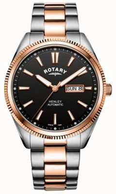 Rotary | Mens Henley | Serrated Bezel |  Stainless Steel Strap | GB05382/04