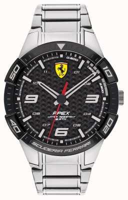 Scuderia Ferrari | Men's Apex | Stainless Steel Bracelet | Black Dial | 0830641