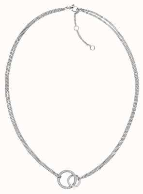 Tommy Hilfiger | Womens Double Open Circle Necklace | 2780076