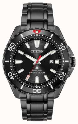 Citizen Men's Promaster Diver Eco-Drive Black PVD Plated BN0195-54E