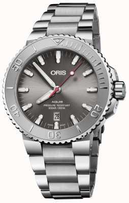 ORIS | Aquis Date Relief | Stainless Steel Bracelet | Grey Dial | 01 733 7730 4153-07 8 24 05PEB