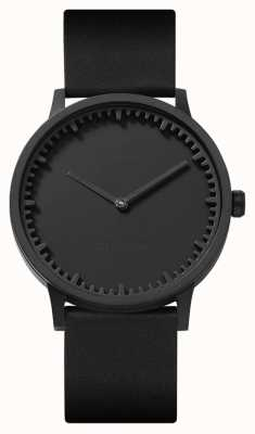 Leff Amsterdam | Tube Watch | T40 | Black | Black Leather Strap | LT75212