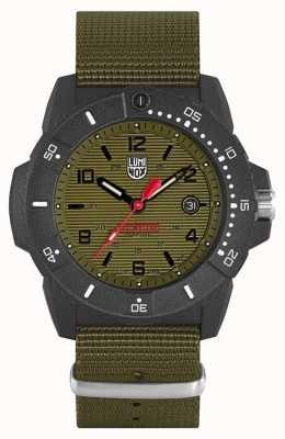Luminox Navy Seal 3600 Series | Green Webbing Strap | Black Dial XS.3617.SET