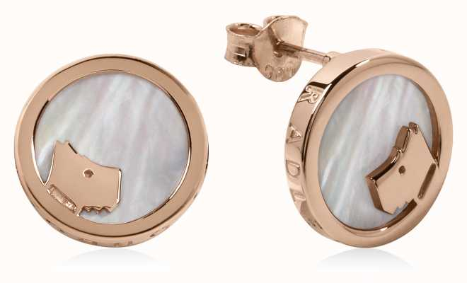 Radley Jewellery Rose Gold Mother Of Pearl Circle Stud Earrings RYJ1068