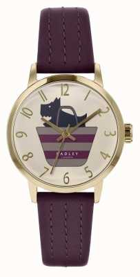 Radley   Womens Purple Leather Strap   Printed Dog In Bag Dial   RY2796