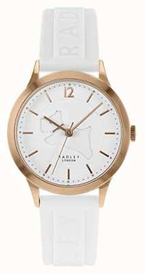 Radley | Womens White Silicone Strap | White Dial | Rose Gold Case RY2818