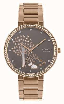 Radley | Womens Rose Gold Steel Bracelet | White/Grey Tree Dial | RY4386