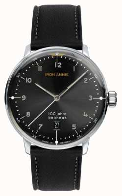 Junkers Iron Annie | Bauhaus | Black Dial | Black Leather Strap 5046-2