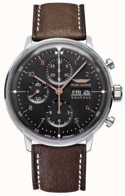 Junkers Iron Annie | Bauhaus | Automatic | Chronograph | Black Dial 5018-2